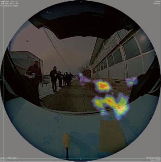 JAXA放射性物質の可視化の画像