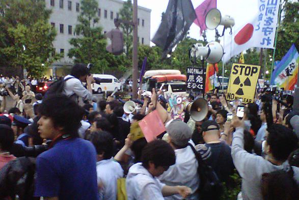 再稼働反対デモの画像