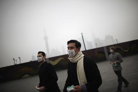 中国大気汚染マスク