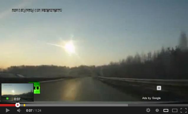 ロシアの隕石動画