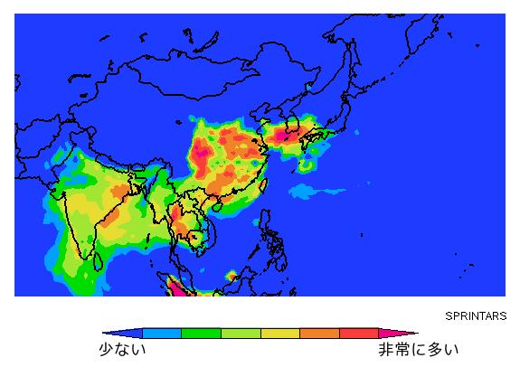 pm25世界汚染マップ