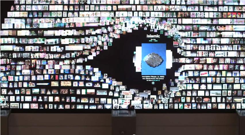 Gallery-One全面液晶タッチパネルの視覚的動き