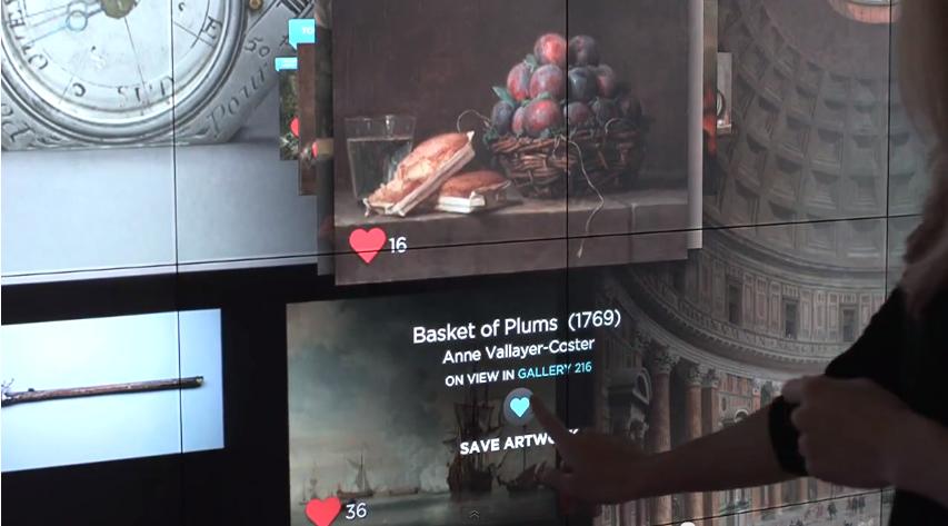 Gallery-Oneでipadに転送する美術品を選択