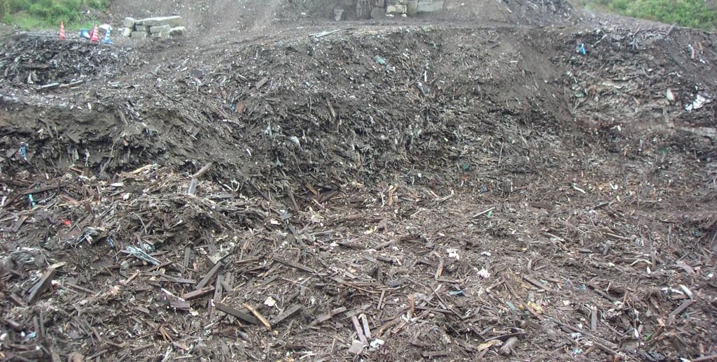滋賀県で放射性セシウムの木くずの不法投棄